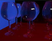 Copas de vidrio