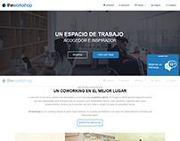 Página Web del coworking Theworkshop