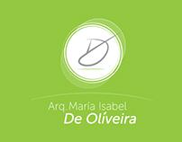 Visual Identity - Arq. María Isabel De Oliveira