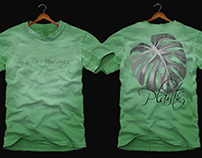 Design. T-Shirt. Plants Zen & Co Atelier Design.