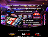 Diseño Web para casinos realizado en Wordpress