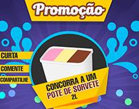 Promoção de Sorvete - Flyer