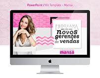 Apresentação PowerPoint | Marisa - kit template