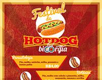 AD cardápio Festival de Hotdog da Biorgia (Bio UFMG)