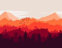 Flat Landscape Wallpaper