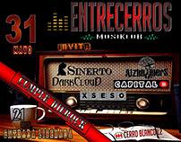 EntreCerroS - Afiches conciertos
