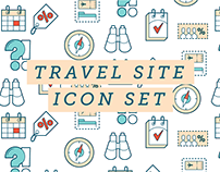 Travel site icon set