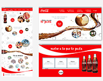 COCA COLA MEXICO CAMPAIGN. UI/UX, Website Layout.