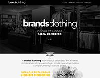 Layout página institucional - Brands Clothing