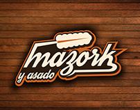 MAZORK Logo y Kiosko movil
