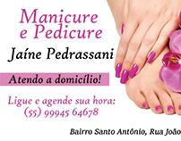 Cartão de Visita - Manicure e Pedicure