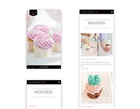 Cupcake Love - Web Design