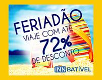 Campanha de Feriado para site de venda de viagens