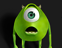 Mike Wazowski - Digital illustration