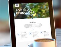 Site Produtora de Eventos i2 Produções