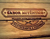 Arte digital Sabor Autêntico Pizzaria