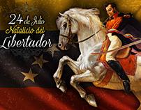 Banner 24 de Julio Natalicio del Libertador