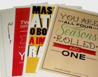 Posters, Tipos e Música