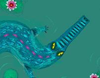 Crocodile in swamp♥