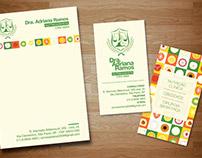 Cartões de visita e receituários - Dra. Adriana Ramos