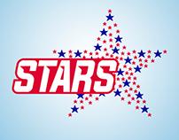 Stars. Logo design. Clothes store.