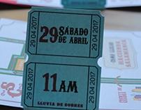 Diseño de tarjetas para eventos sociales