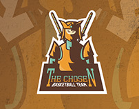 The Chosen - Basketball Team - Mascot Logo.