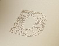 Criação da marca, aplicações e site Dritto Arquitetura