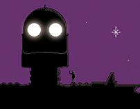 Poster: The Iron Giant pixel art