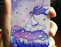 Watercolor Illustrations on cards