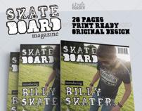 Skateboard Magazine Template
