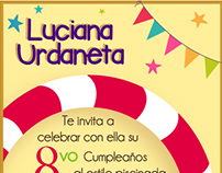 Invitación Cumpleaños #8 Luciana