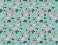 Design de padrão para o livro A revolução dos bichos.
