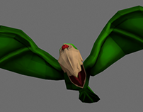 Model, rigg and texture creature for game