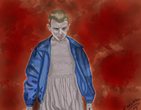 Digital painting - Stranger Things - Eleven