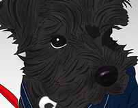 Milo ilustración vectorial