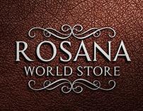 Logo Loja de Produtos Importados Rosana World Store.