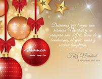"""Diseño de tarjeta """"Feliz Navidad"""" para Bronco"""