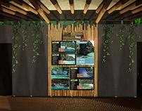 Diseño de mural de publicidad, Bamboo Hostel, Filipinas