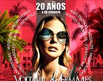 Diseño de Afiche para Voltair & Femmes Agency