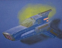 Ilustração | Blue Spaceship