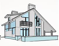 Ilustraciones Digitales Casas