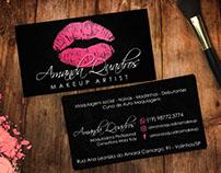 Cartão de Visita - Maquiadora Amanda Quadros.