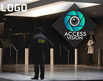 Logo para la empresa de seguiridad access Vision