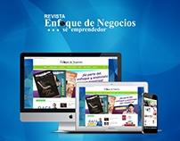Desarrollo web para Revista