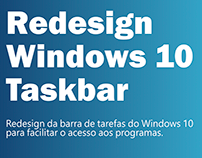 Redesign Windows 10 taskbar