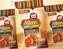 Criação de embalgens e logotipo para ALKEN