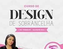 Flyer - Curso de Design de Sobrancelha - Fê Caetano