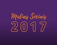 Mídias Sociais 2017 - Direção de arte e alguns textos