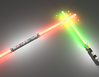 Lightsaber Darth Maul, pelea